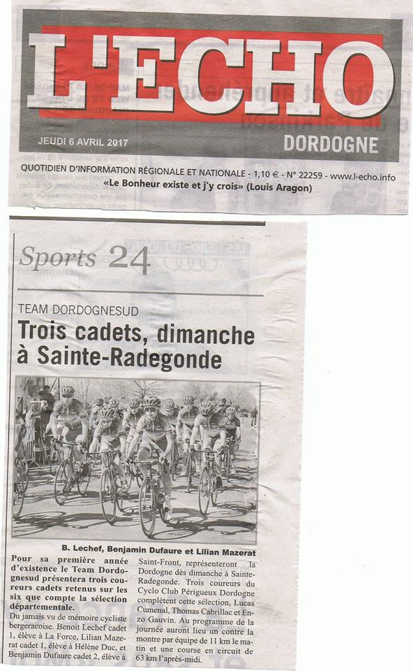 Article l'Echo Sélection