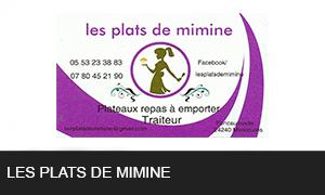 Les plats de mimine